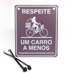 placa_dog-bike_flores_marrom